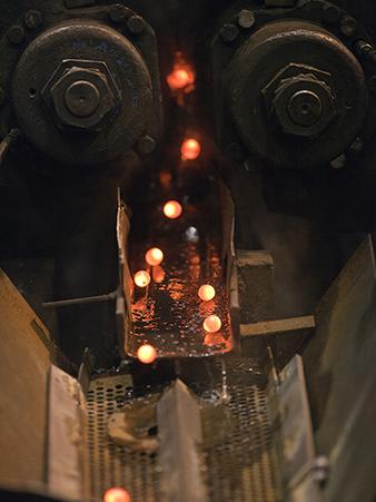 Hot rolled grinding balls at Forsbacka Kulverk